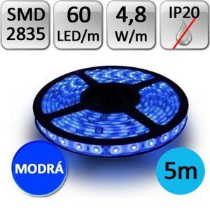 LED21 LED pásek 5m 4,8W/m 60ks/m 2835 MODRÝ